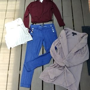 FOREVER 21 LOT SMALL tops& JEANS(24)!!